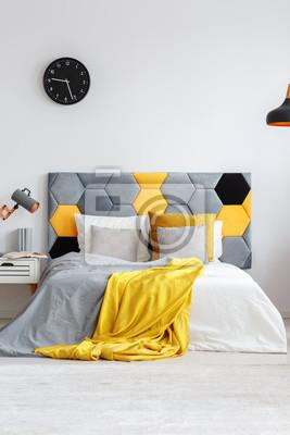 Szara I żółta Sypialnia Fototapety Redro