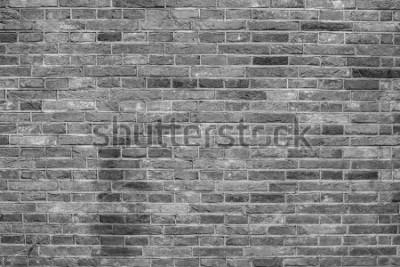 Fototapeta Szara ściana z cegieł tekstura.