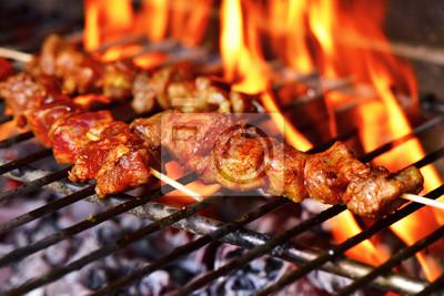 Fototapeta szaszłyki mięsne z grilla