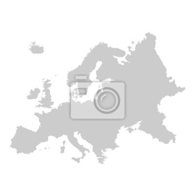 Fototapeta Szczegółowa mapa wektorowa Europy