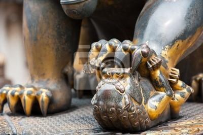 Szczegóły lwica w Zakazane Miasto, Chiny