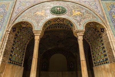 Fototapeta Szczegóły od 19 wieku pałac golestan w Teheranie, Iran