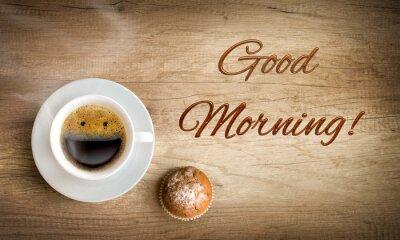 Fototapeta szczęśliwy poranna kawa