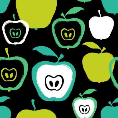 Fototapeta Szczotkarski Grunge Apple Bezszwowy wzór.