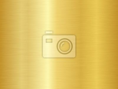 Fototapeta Szczotkowana metalowa tekstura. Tło wektor złoto. Bezszwowa złocista metal tekstura.