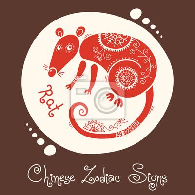 Szczur Chiński Znak Zodiaku Fototapety Redro