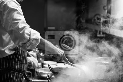 Fototapeta Szef kuchni się wzrusza