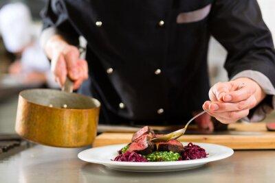 Fototapeta Szef kuchni w hotelu czy restauracji Kuchnia Gotowanie