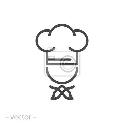 Fototapeta szef kuchni wektor ikona, znak linii