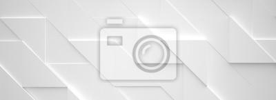 Fototapeta Szeroki White Background 3d ilustracji