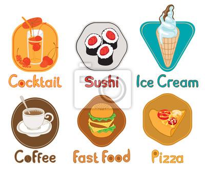 sześć obrazów z różnych rodzajów żywności