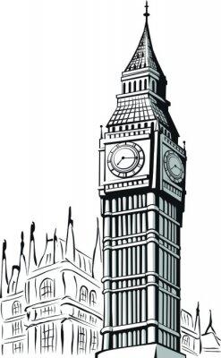 Fototapeta Szkic Big Ben Londyn
