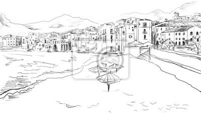 Fototapeta Szkic do greckim miasta
