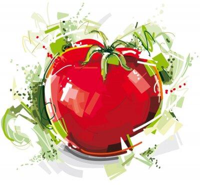 Fototapeta Szkicowy Pomidor
