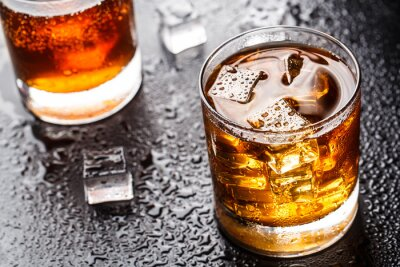 Fototapeta Szkło z piciem alkoholu