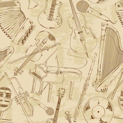 Fototapeta Szwu z instrumentów muzycznych