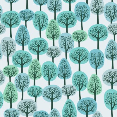 Fototapeta szwu z zimowym lesie