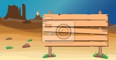 Szyld na pustyni zachodniej