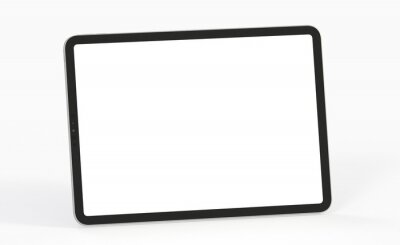 Fototapeta Tablet pc  computer with blank screen 3d