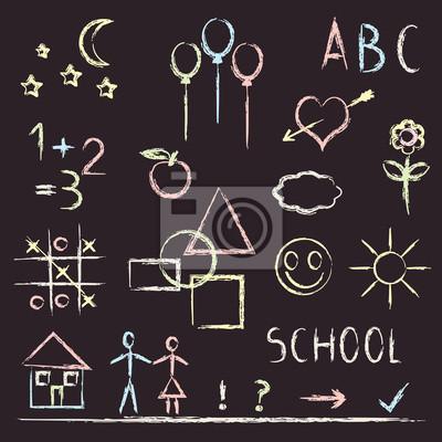 Tablica z różnych symboli