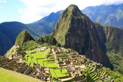 Fototapeta Tajemnicze miasto Machu Picchu, Peru.