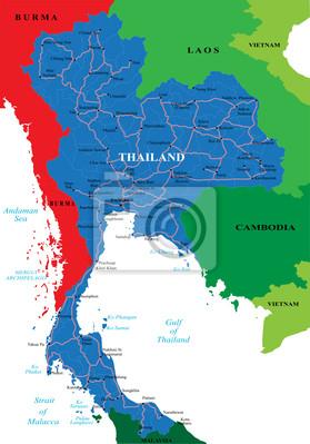 Fototapeta Tajlandia mapa