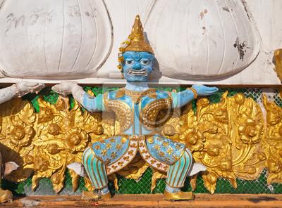 Tajski Demon na szczycie Tiger Temple (Wat Tham Suea)