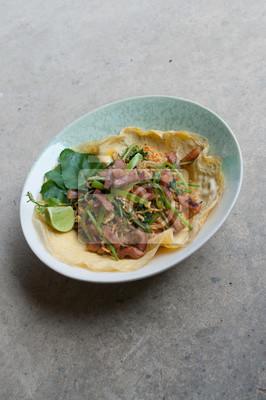 Fototapeta Tajski Styl Makaron Instant Jaj Oklad Kuchnia Azjatycka