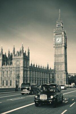Fototapeta Taksówek i Big Ben