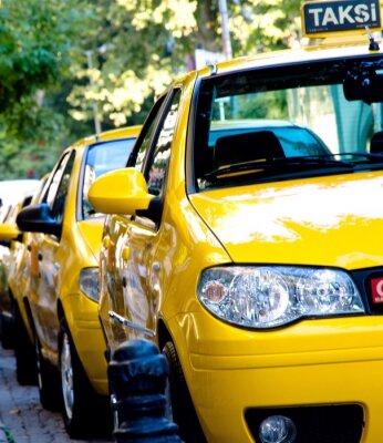 Fototapeta taksówki w mieście