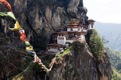 Fototapeta Taktshang Goemba, Gniazdo Tygrysa klasztoru w Bhutanie