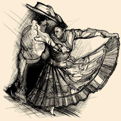 Fototapeta taniec latino
