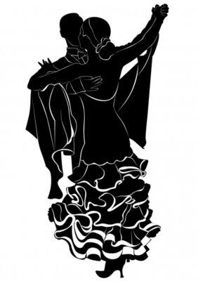 Fototapeta taniec towarzyski