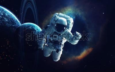 Fototapeta Tapeta kosmiczna, science fiction. Piękno kosmosu. Miliardy galaktyk we wszechświecie. Elementy tego obrazu dostarczone przez NASA