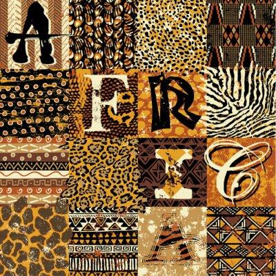 Fototapeta Tapeta wektorowych stylu afrykańskim