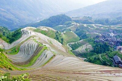 Fototapeta Tarasy i wsi w Chinach