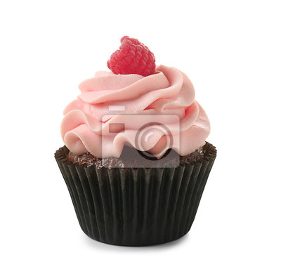 Fototapeta Tasty cupcake on white background