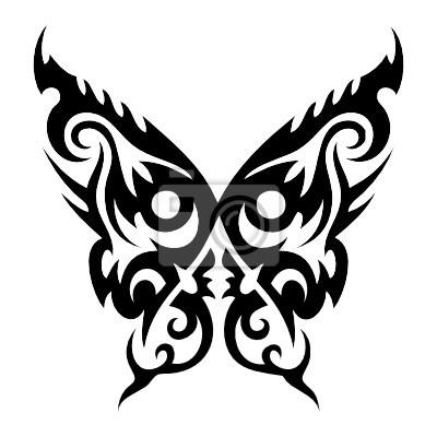 Fototapeta Tatuaż Motyl Vector Na Wymiar Sztuka Piękno Elegancja
