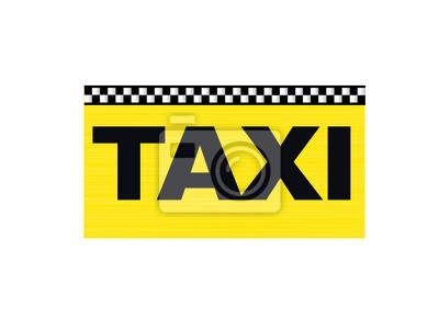 Fototapeta Taxi Taxi Visitenkarte Wizytówka Na Wymiar