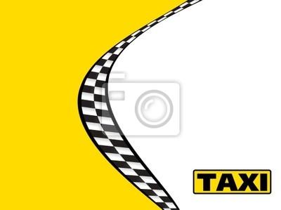 Taxi Taxi Visitenkarte Wizytówka Fototapety Redro