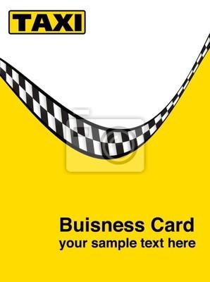 Taxi Taxi Visitenkarte Wizytówka Nr 1 Fototapety Redro