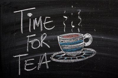 Fototapeta Tea Time For znak tablicy