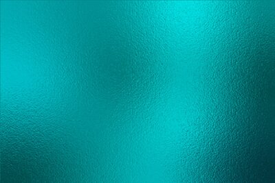 Fototapeta Teal texture foil. Turquoise metallic effect. Emerald shine background. Blue green color surface. Backdrop metal plate texture. Metallic pattern foil for design, cards, banners, covers, prints. Vector