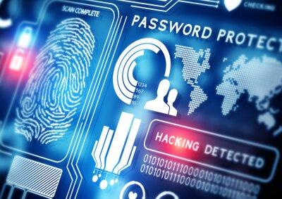 Fototapeta Technika bezpieczeństwa w Internecie