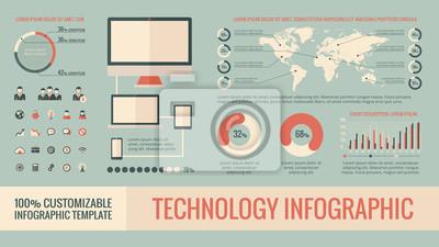 Fototapeta Technologia Infographic Elements