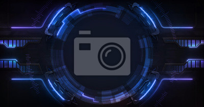 Fototapeta Technological and industrial circle copy space background