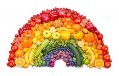Fototapeta Tęcza owoców i warzyw