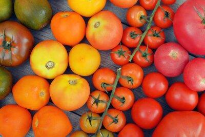 Tęcza z pomidorów.