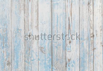 Fototapeta tekstura drewna tło niebieskie i białe
