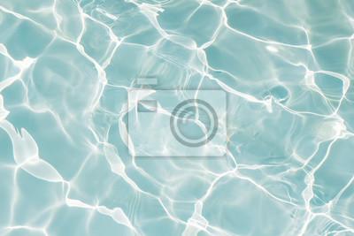 Fototapeta Tekstura woda w pływackim basenie dla tła